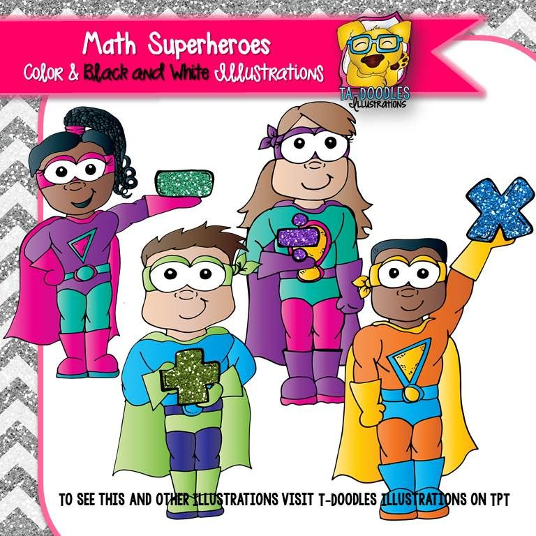 Super hereo math clipart graphic royalty free download Math Superheroes Clipart | Creative Clip Art by TpT Artists ... graphic royalty free download