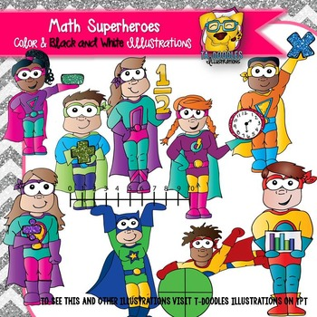 Super hereo math clipart banner royalty free Math Superheroes Clipart banner royalty free