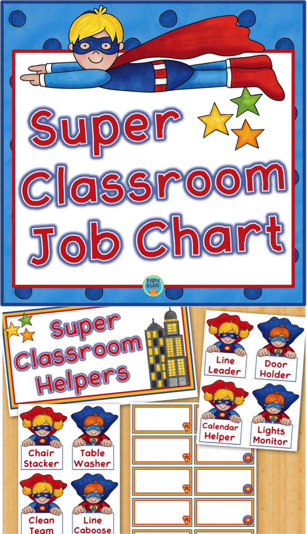 Super hero calendar helper clipart clip art transparent download Classroom Jobs Superhero Job Chart | supers | Classroom jobs ... clip art transparent download
