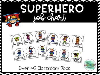 Super hero calendar helper clipart transparent Superhero Classroom Job Worksheets & Teaching Resources | TpT transparent