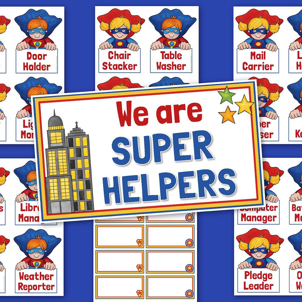 Super hero calendar helper clipart graphic black and white library Superhero Classroom Job Chart graphic black and white library