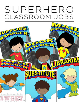 Super hero calendar helper clipart clip library Superhero Classroom Job Worksheets & Teaching Resources | TpT clip library