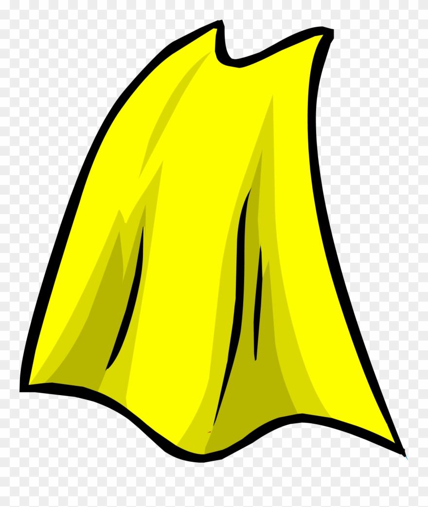 Super hero cape clipart svg black and white Yellow Cape - Yellow Superhero Cape Clipart - Png Download ... svg black and white