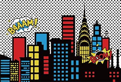 Super hero clipart background image Amazon.com : Yeele-Superhero-Background 5x3ft Photography ... image