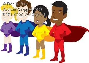 Super hero day clipart clip art transparent download Clip Art Illustration Of A Group Of Male And Female Superheroes ... clip art transparent download