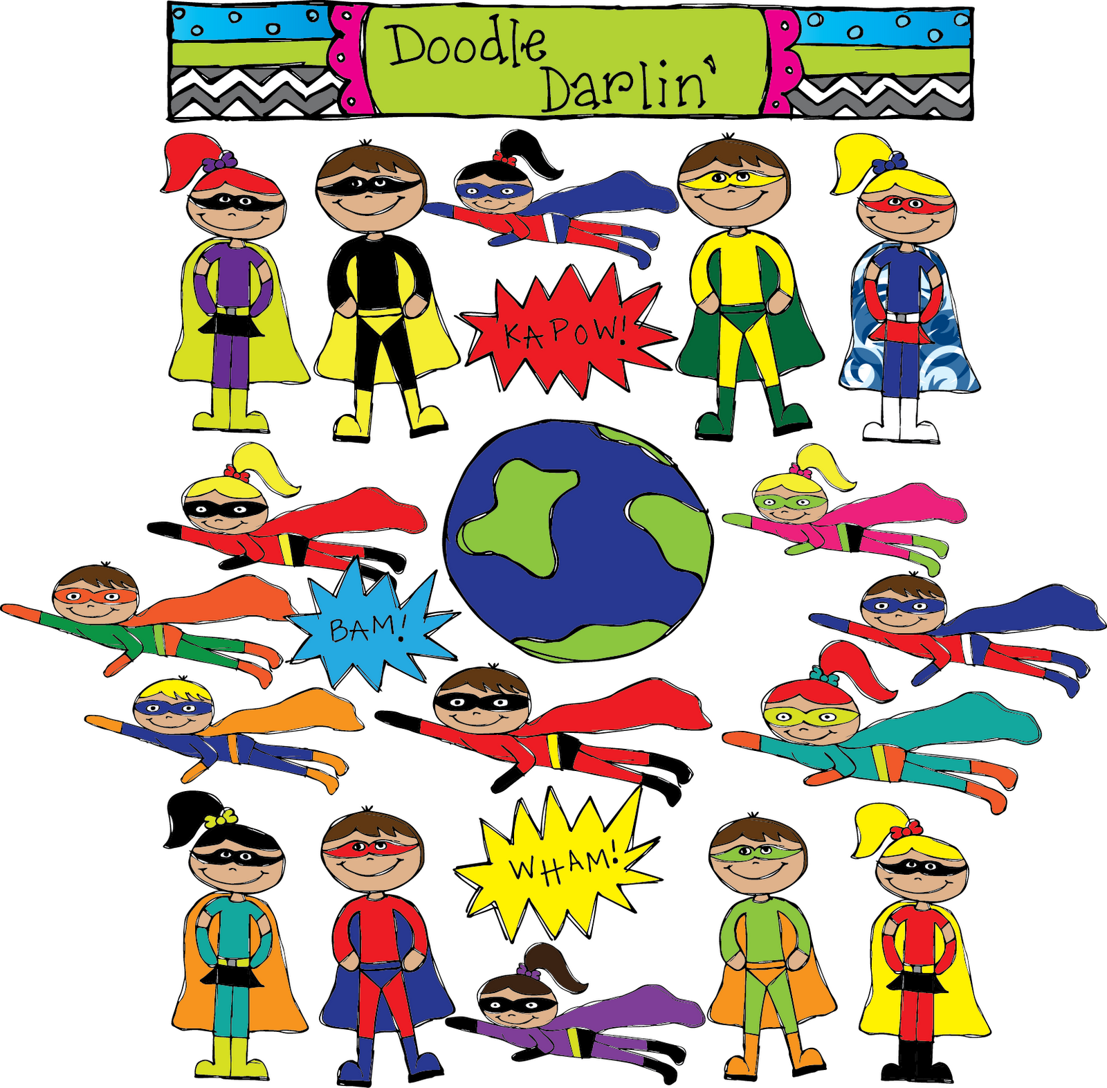 Super hero day clipart png black and white stock Gallery For > Superhero Day Clipart png black and white stock