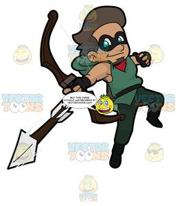 Super hero dog pushing lawn mower clipart graphic library A Super Hero Shooting An Arrow graphic library
