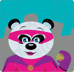 Super hero dog pushing lawn mower clipart banner download Clipart Illustration of a Giant Panda Bear Female Super Hero ... banner download