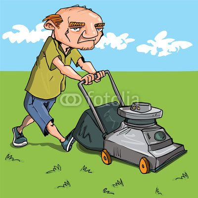Super hero dog pushing lawn mower clipart clipart freeuse stock free clip art downloads lawn man | Vector: Cartoon man ... clipart freeuse stock