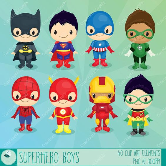 Super hero kids clipart graphic free Superhero boys clipart, Superhero clipart, Hero clip art, Super ... graphic free