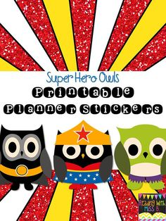 Super hero owl clipart clip free library Superhero Owls Cliparts 07463 by revidevi on Etsy, $4.00 | Crafts ... clip free library