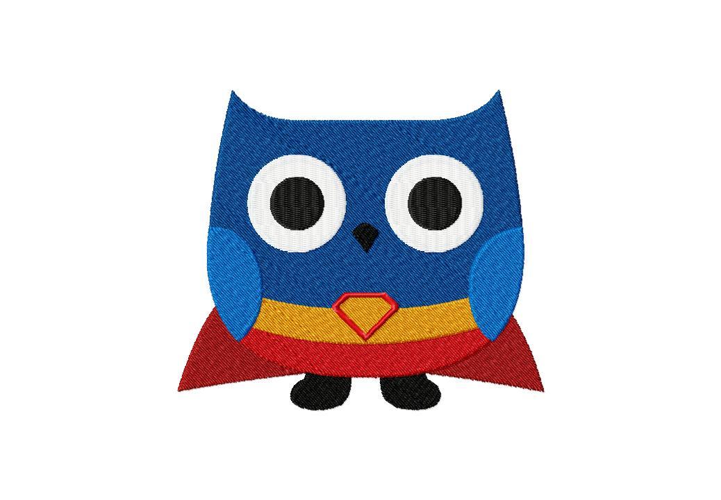 Super hero owl clipart banner library stock Free Super Hero Owl Machine Embroidery Design | Daily Embroidery banner library stock