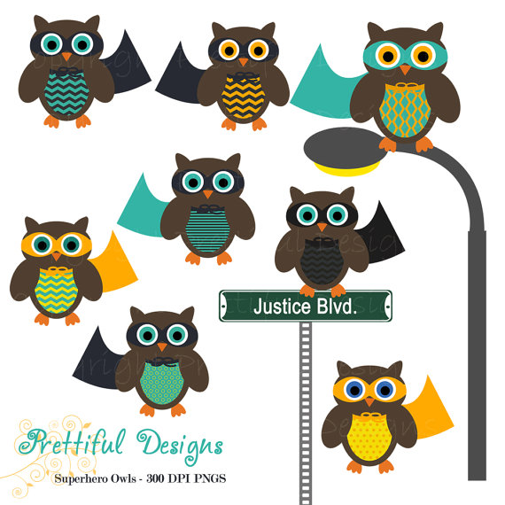 Super hero owl clipart png stock Items similar to Superhero Owl Clip Art for Digital Scrapbooking ... png stock