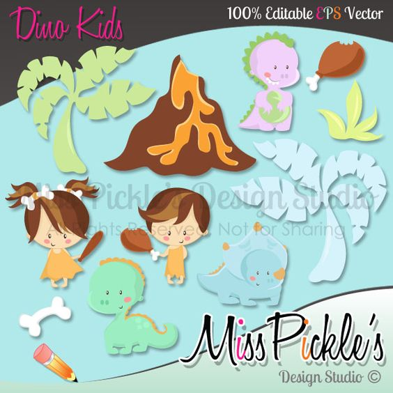 Super high resolution clipart clip free download This super cute Dino Kids themed clip art set includes separate ... clip free download