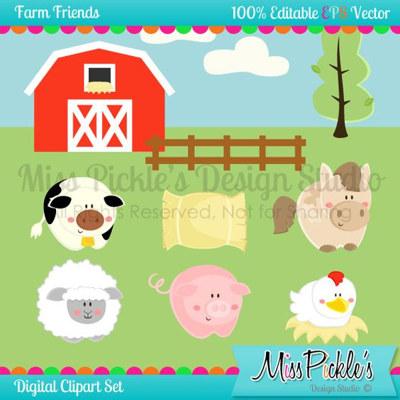Super high resolution clipart clip royalty free stock This super cute Farm themed clip art set includes 15 separate ... clip royalty free stock