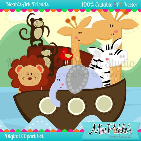 Super high resolution clipart vector free stock This super cute Noah's Ark themed clip art set includes 18 ... vector free stock