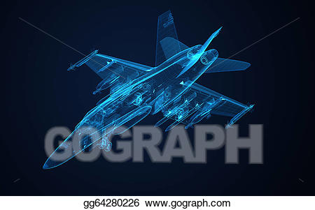 Super hornet flying clipart clipart library download Stock Illustration - 3d wire frame sketch of f-18 hornet ... clipart library download