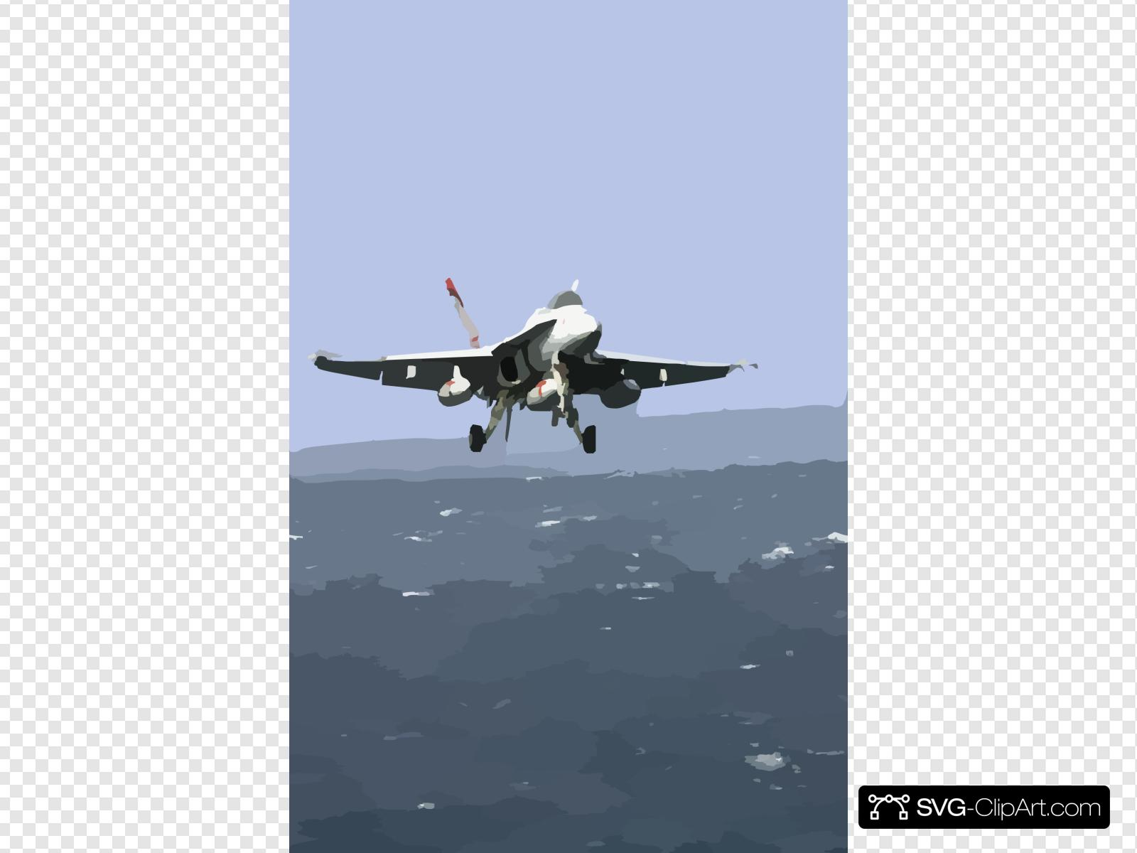 Super hornet flying clipart vector library stock A F/a-18e/f Super Hornet Comes In For An Arrested Landing On ... vector library stock