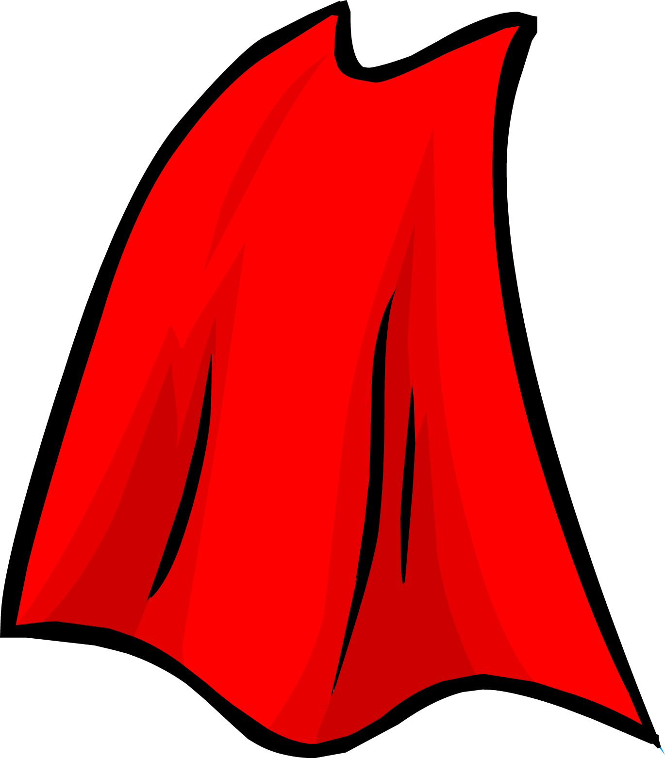 Super man clipart transparent vector royalty free Superman Cape Clipart - Clipart Kid vector royalty free