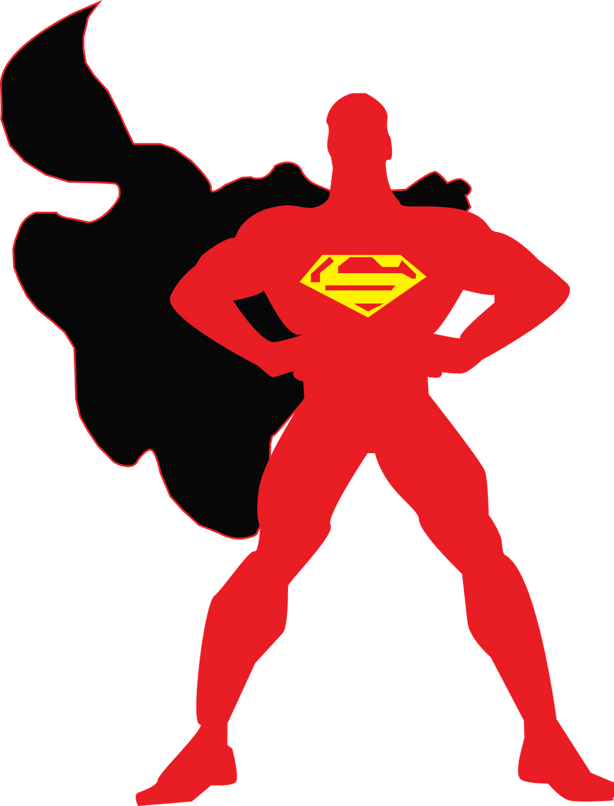 Super man holding clipart graphic stock Free Superman Symbol Outline, Download Free Clip Art, Free ... graphic stock