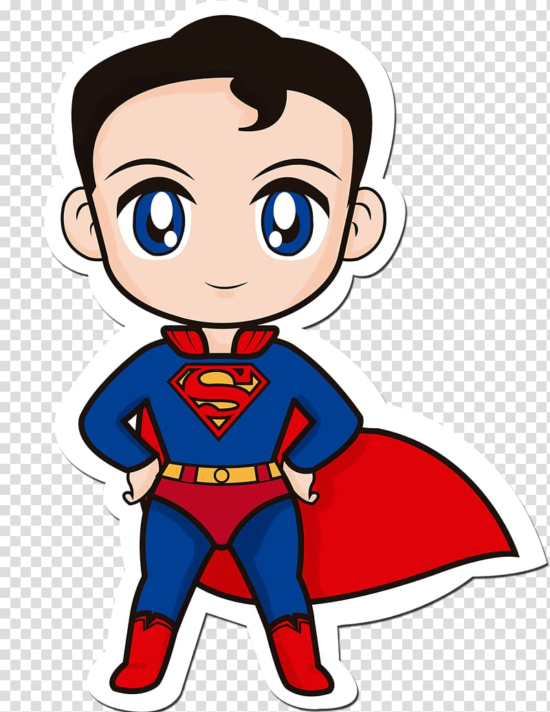Super man holding clipart vector stock Superman Clark Kent Superhero Chibi Drawing, superman ... vector stock