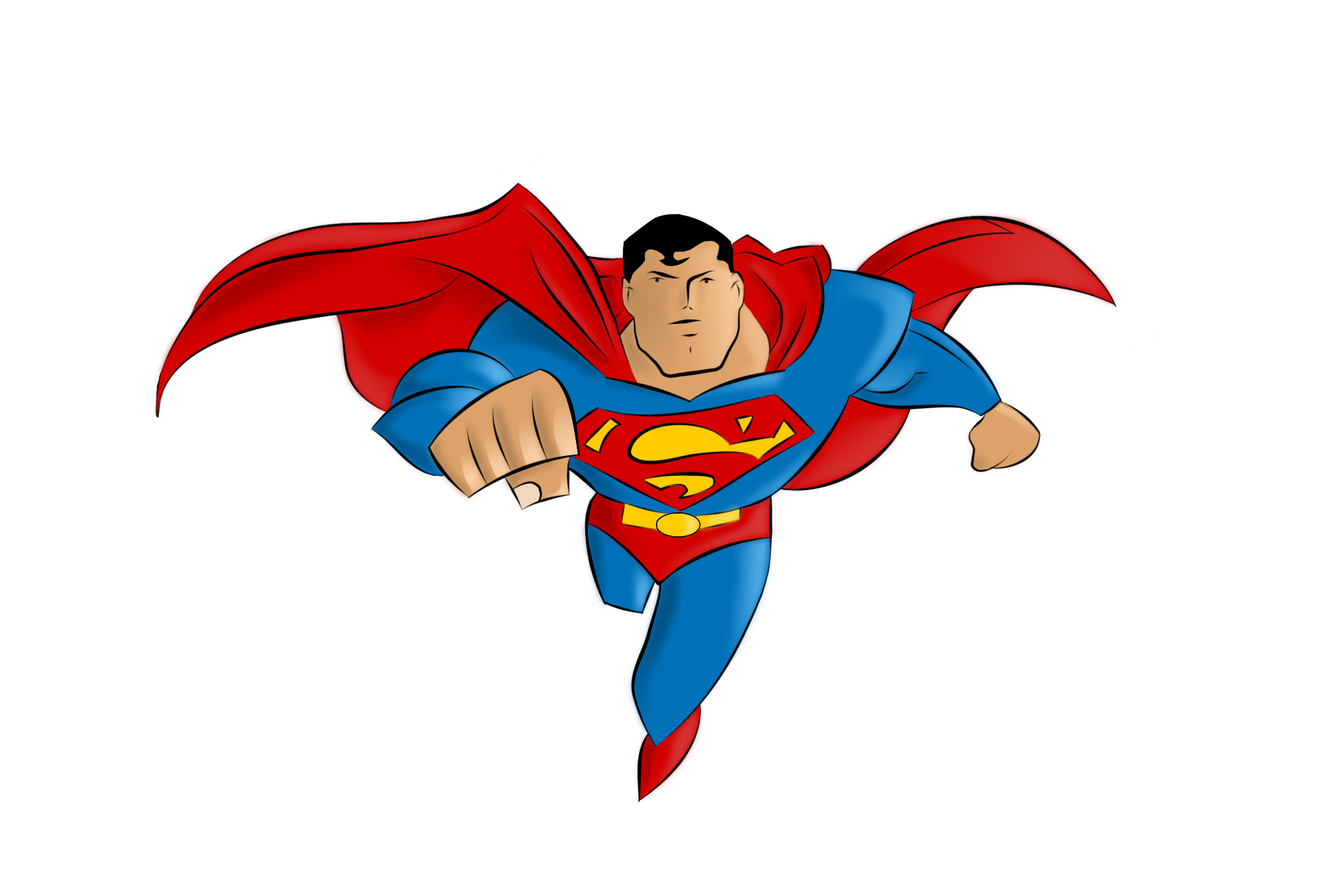 Super man holding clipart image black and white stock Cartoon Superwoman Clipart | Free download best Cartoon ... image black and white stock