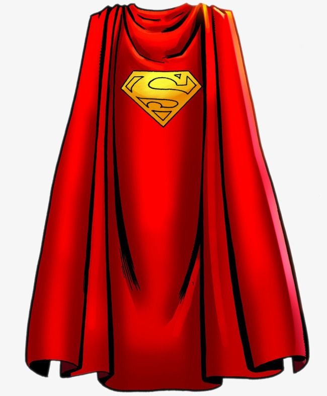 Superman cloak clipart vector freeuse library Superman Cape, Superman Clipart, Clothes, Red PNG ... vector freeuse library