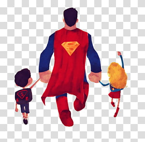 Super man holding clipart picture library Cyclops Family Superhero Parent Illustration, Cartoon ... picture library