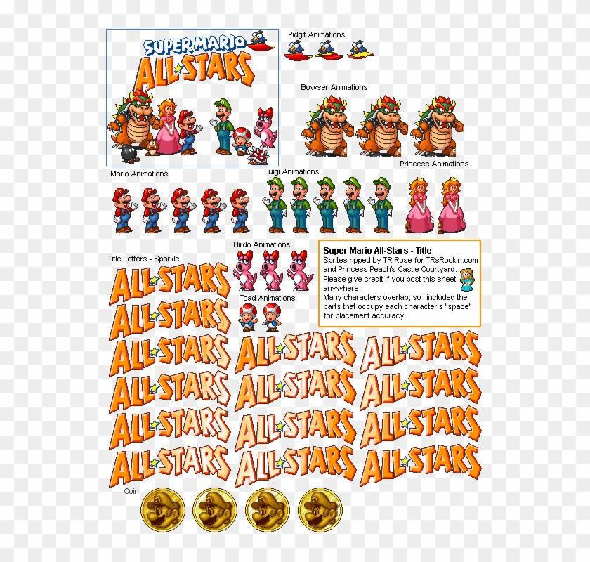 Super mario all stars clipart jpg royalty free library Allstars - Super Mario All Stars Title, HD Png Download ... jpg royalty free library