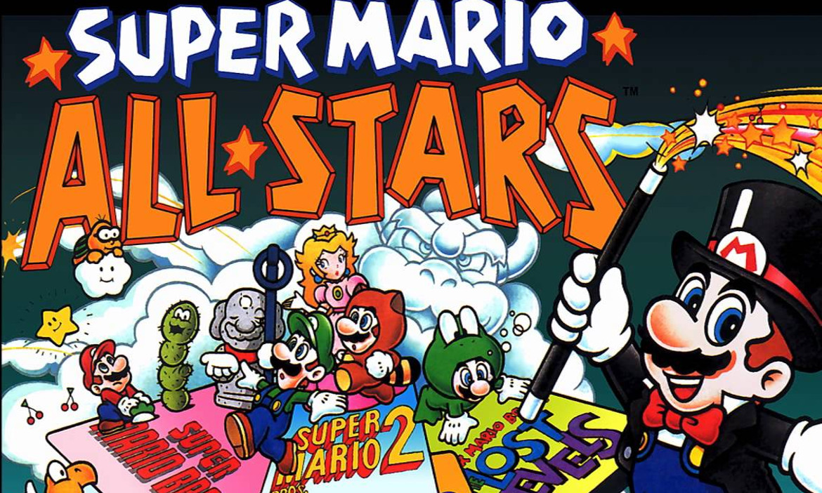 Super mario all stars clipart picture black and white library Blast from the Past: Super Mario All-Stars (SNES) - SA Gamer picture black and white library