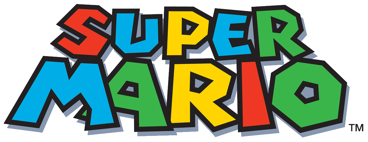 Super mario bros logo clipart graphic black and white Logo super mario clipart images gallery for free download ... graphic black and white