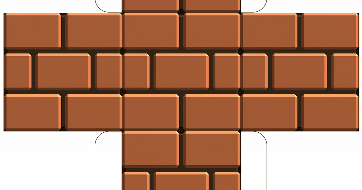 Super mario brothers brick clipart royalty free mario-brick-block-template.pdf | Super Mario bros party in ... royalty free