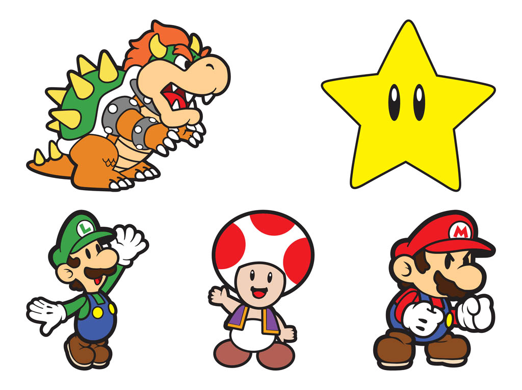 Super mario character clipart clipart library library Nintendo Character Clipart - Clipart Kid clipart library library
