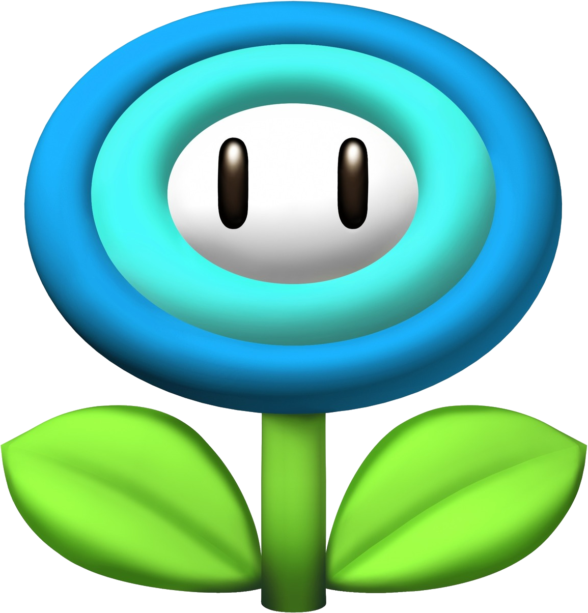 Super mario star eyes clipart graphic black and white stock Image - Ice Flower Artwork - New Super Mario Bros. Wii.png ... graphic black and white stock