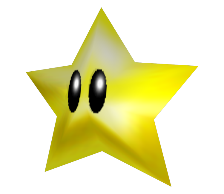 Super mario star eyes clipart image library Nintendo 64 - Super Mario 64 - Power Star - The Models Resource image library