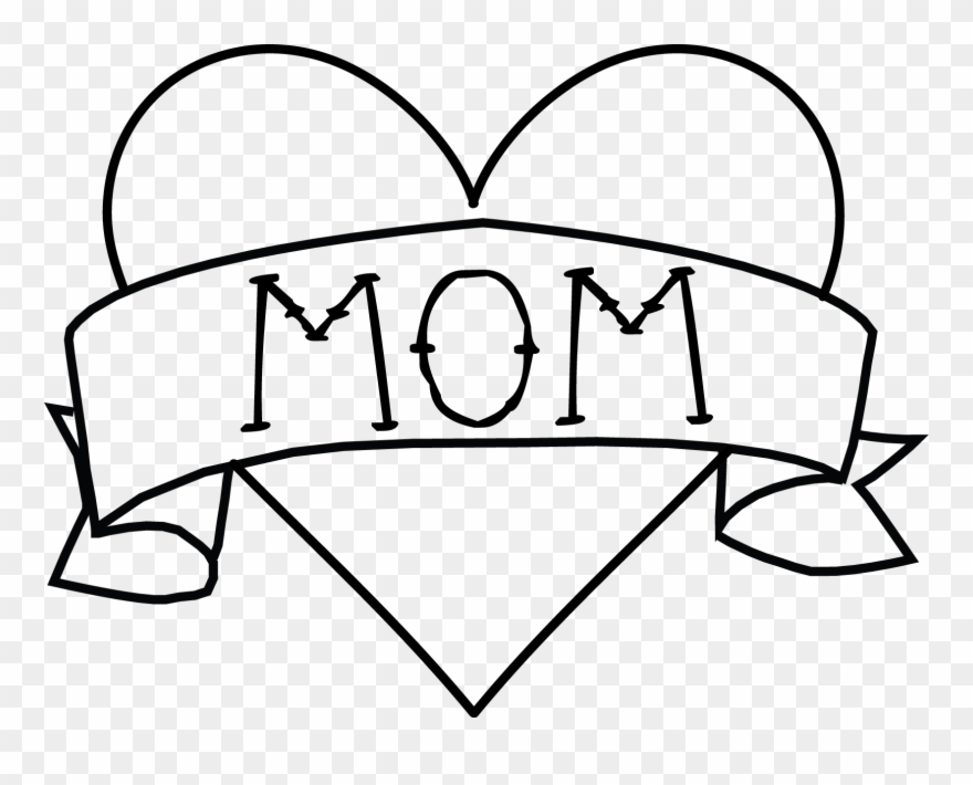 Super mom royalty free clipart black and white svg free stock Mom Tattoo Png Clipart Royalty Free - Banner Clip Art ... svg free stock