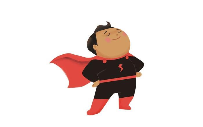 Super power child clipart svg freeuse June Challenge: Dad\'s Secret Superpower - Storybird Blog svg freeuse