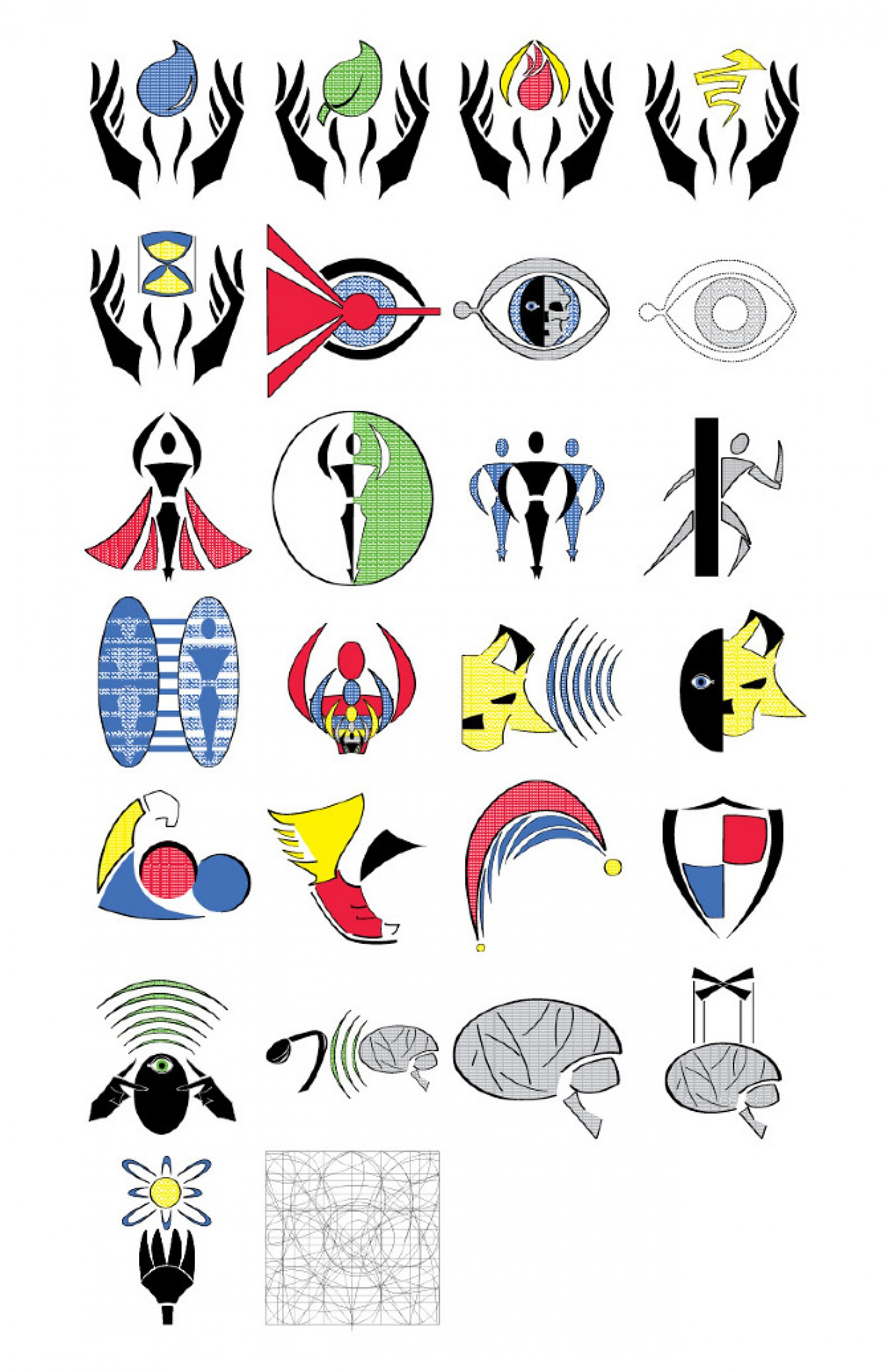 Super powers clipart graphic black and white library Super Power Symbols | Visual.ly graphic black and white library