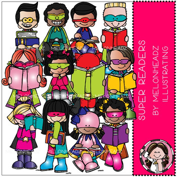 Super readers clipart vector free stock Super Readers clip art - by Melonheadz vector free stock
