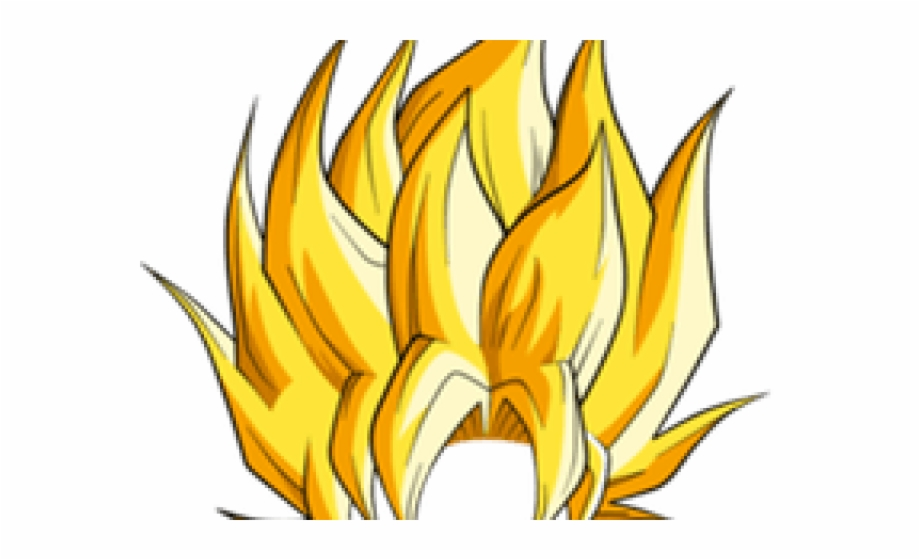 Super saiyan flames clipart png png transparent library Hair Clipart Super Saiyan - Goku Super Saiyan Hair Png Free ... png transparent library
