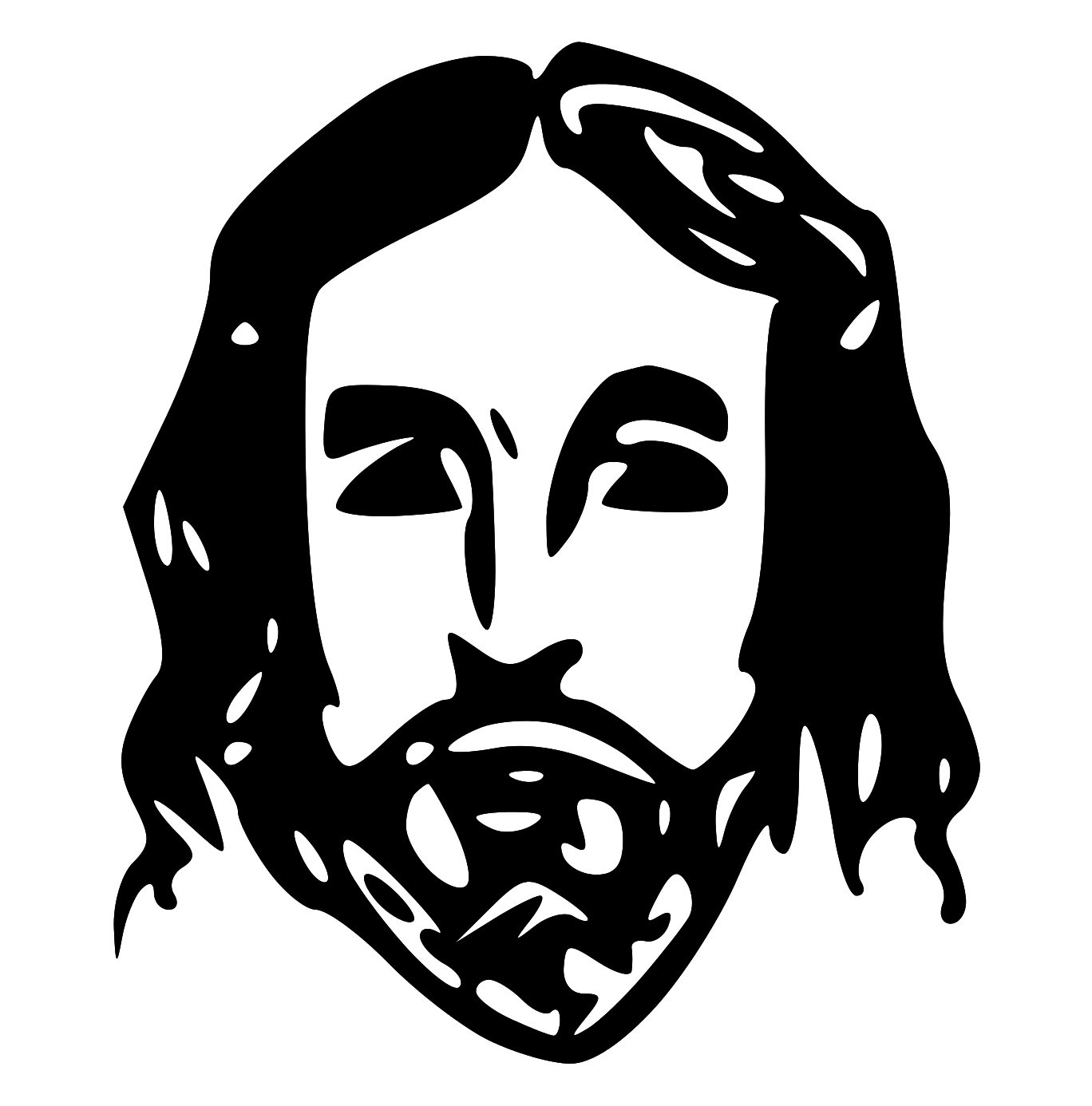 Super serious jesus face clipart png black and white library Free Jesus Clipart, Download Free Clip Art, Free Clip Art on ... png black and white library