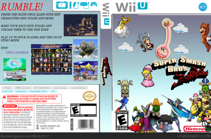 Super smash bros clipart jpg black and white download Post images of fake covers for the Wii U version. - Super Smash ... jpg black and white download