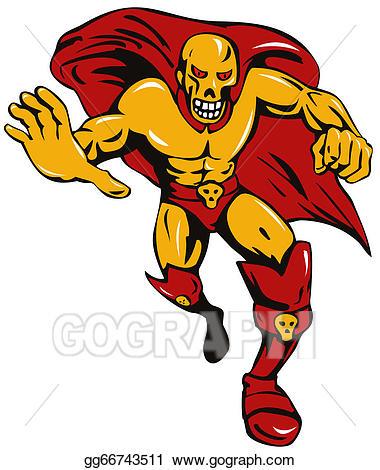 Super villain clipart vector free stock Stock Illustration - Super villain skull. Clipart Drawing ... vector free stock