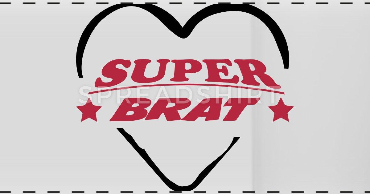 Superbrat clipart clip art black and white stock Super brat Panoramic Mug | Spreadshirt clip art black and white stock