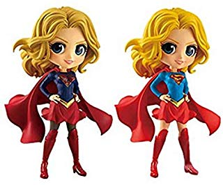 Supergirl save a child on the street clipart