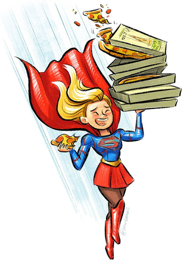 Supergirl save a child on the street clipart clip art transparent library Super Delivery!\