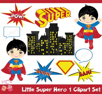 Superhero 1 clipart vector black and white download Super Hero 1 Clipart Set vector black and white download