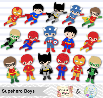 Superhero 1 clipart clip art transparent stock 24 Superhero Boys Digital Clip Art, Little Boy Superhero Clipart, 00190 clip art transparent stock