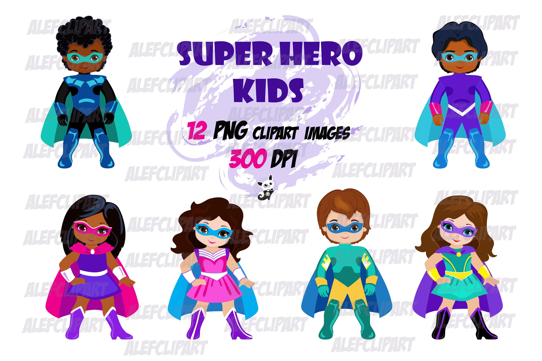 Superhero 1 clipart svg freeuse library Superhero Kids Clipart , Supergirl, Superboy. svg freeuse library