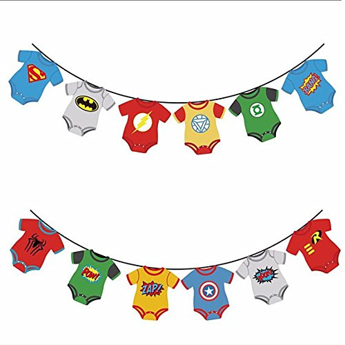 Superhero banner clipart svg transparent Baby Superhero Baby Shower: Amazon.com svg transparent